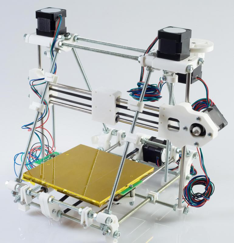 3D printers can be used to create custom models or products directly from digital designs.