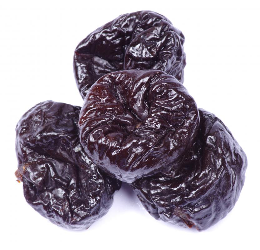 Prunes contain potassium.