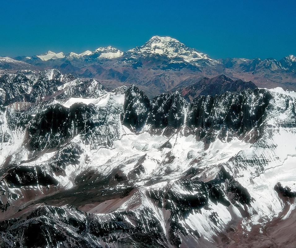 Aconcagua is counted among the world's tallest mountains outside of Asia.