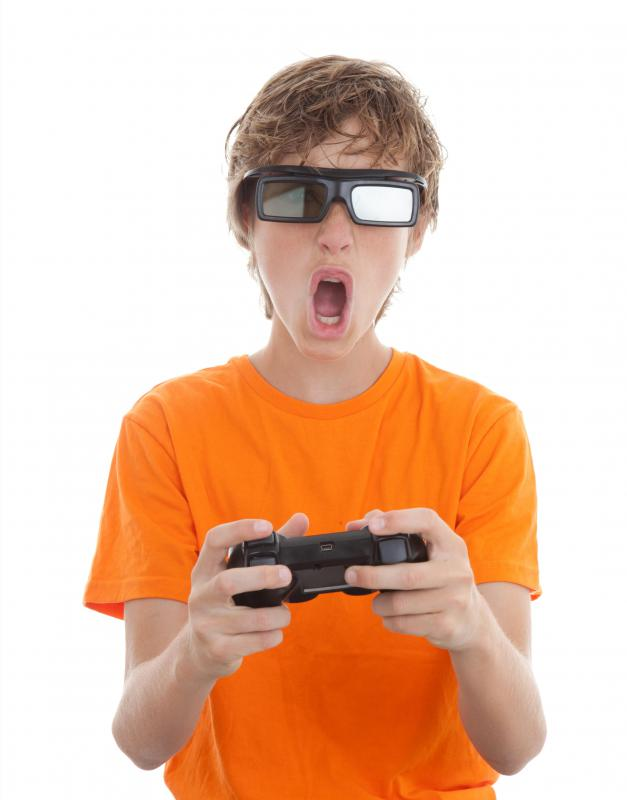 3D glasses may be used for gaming.