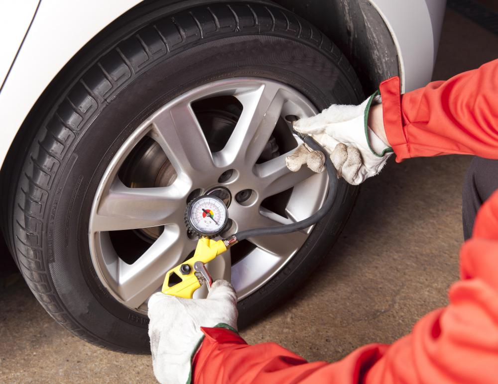 Ensuring that all tires are properly inflated is an essential part of vehicle maintenance.