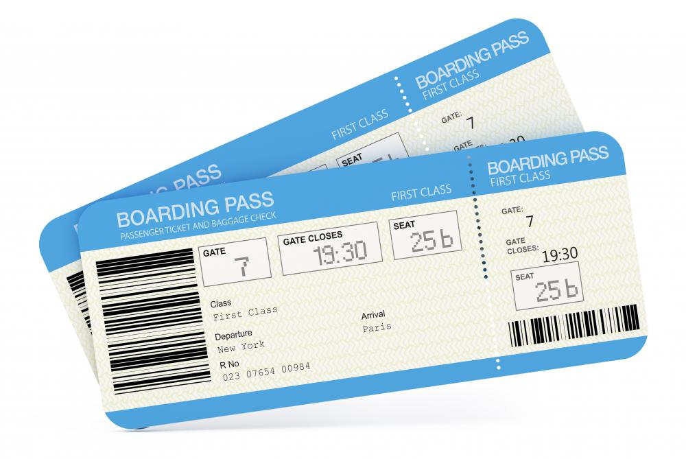 Airplane passenger tickets can be purchased through an airline.