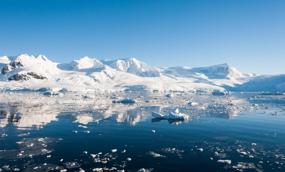 Antarctica tops the list of least populated places.
