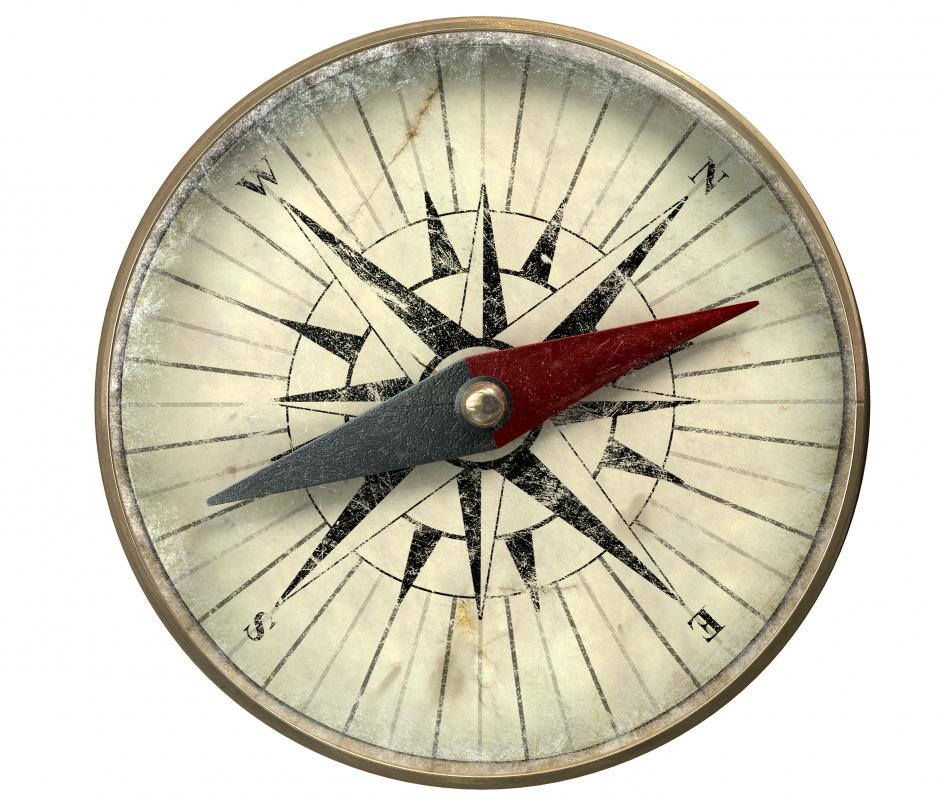 Compasses uses the magnetic field of the North Pole to show direction.