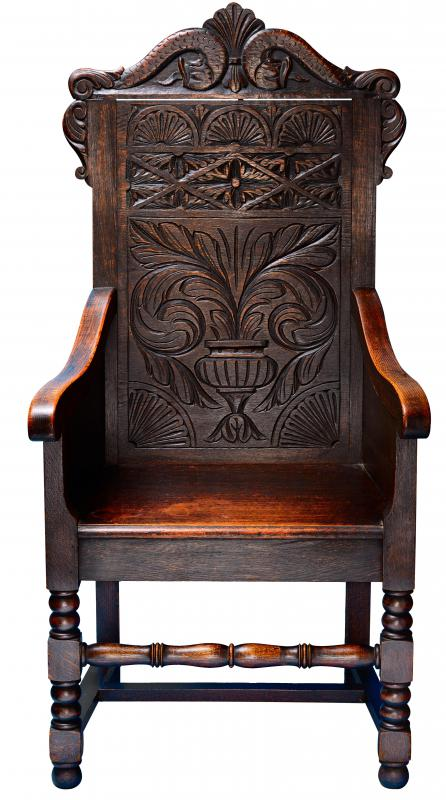 Over time the wood on an antique chair develops a rich glow or patina.