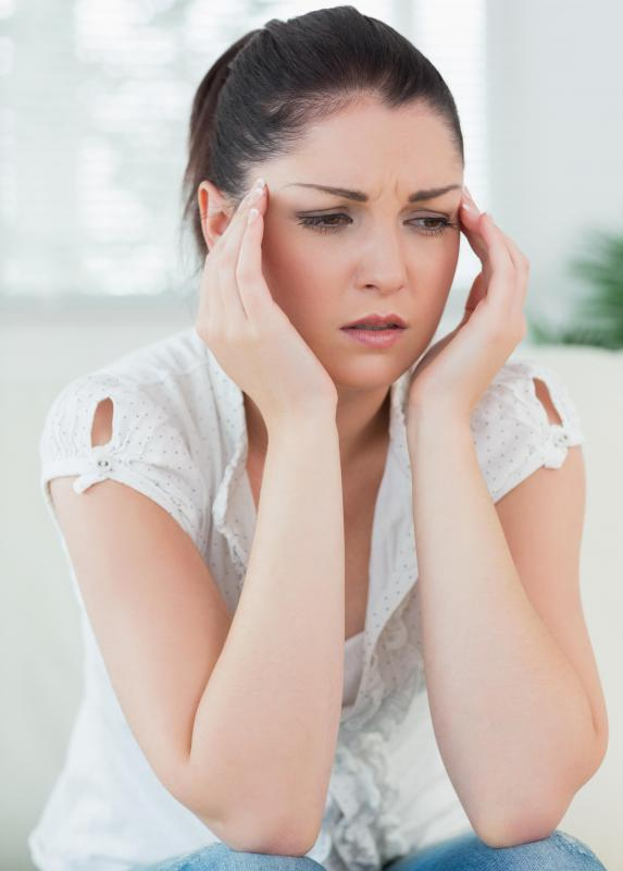 Low levels of estrogen may cause a woman to feel anxious and depressed.