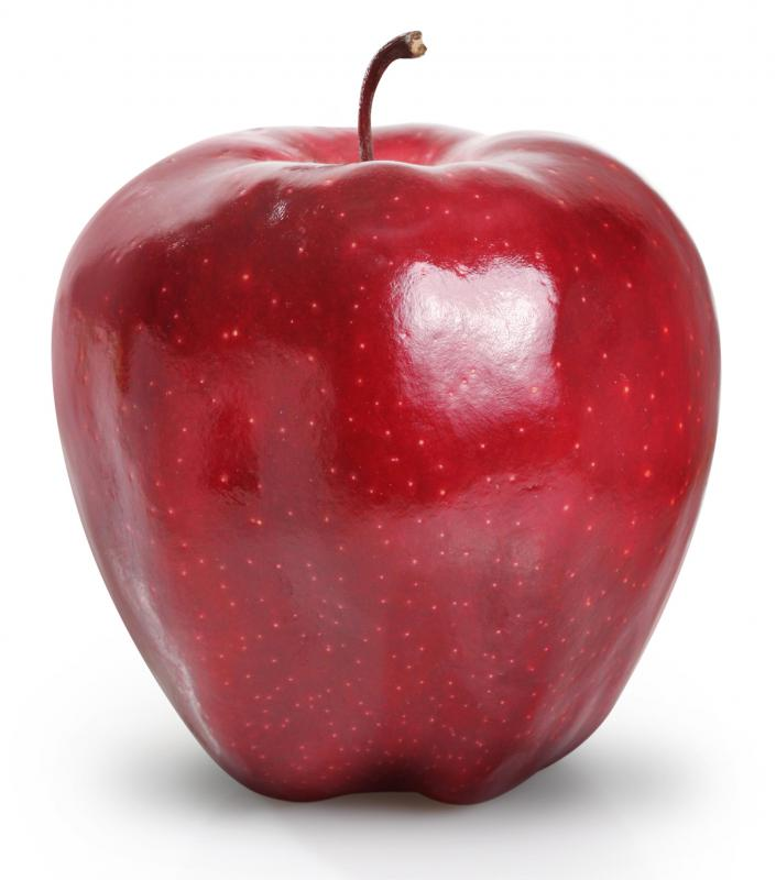 Apples, like this Red Delicious, are a good source of fiber.