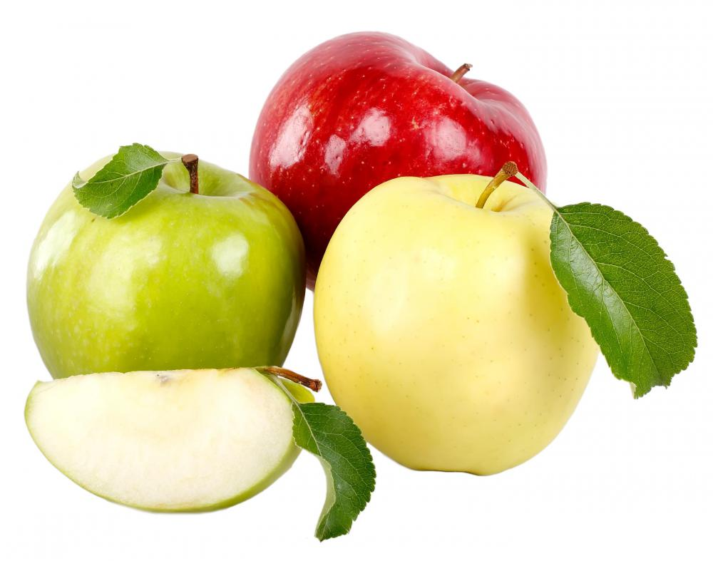 Apples are a good source of dietary fiber.