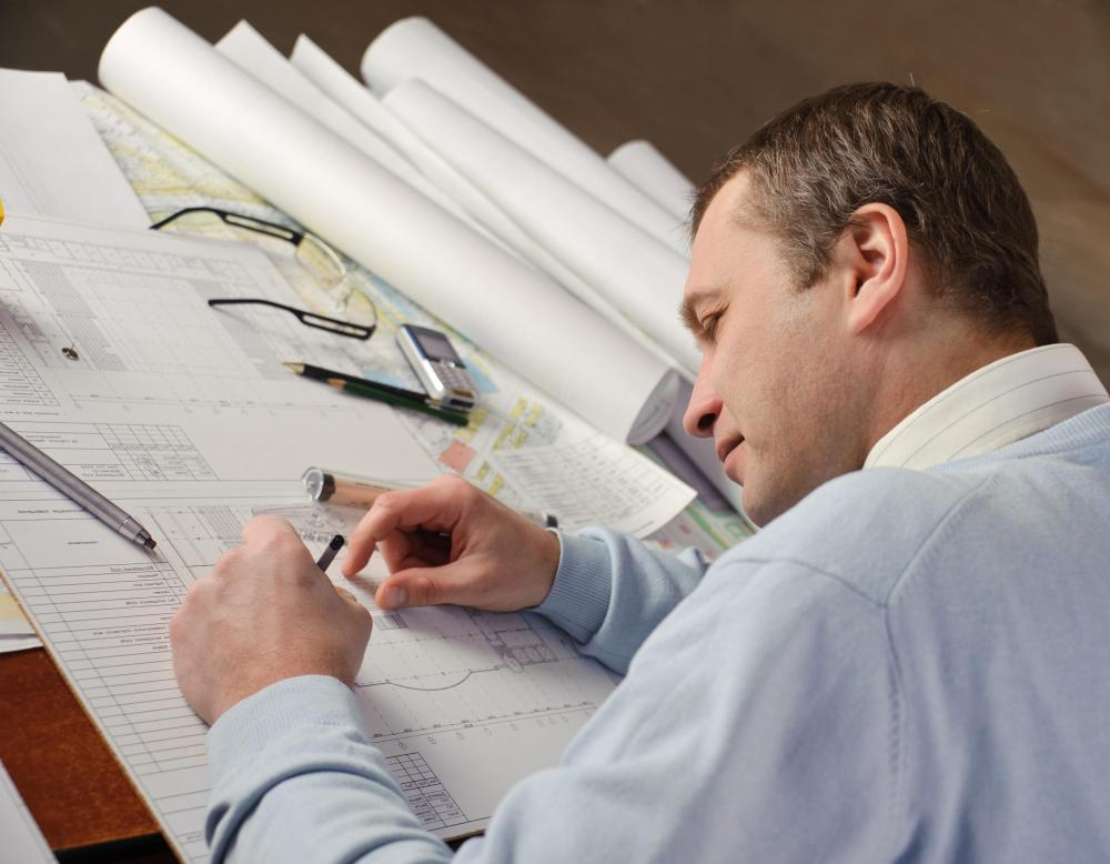 Architects are among those who draft finished drawings on tracing paper.