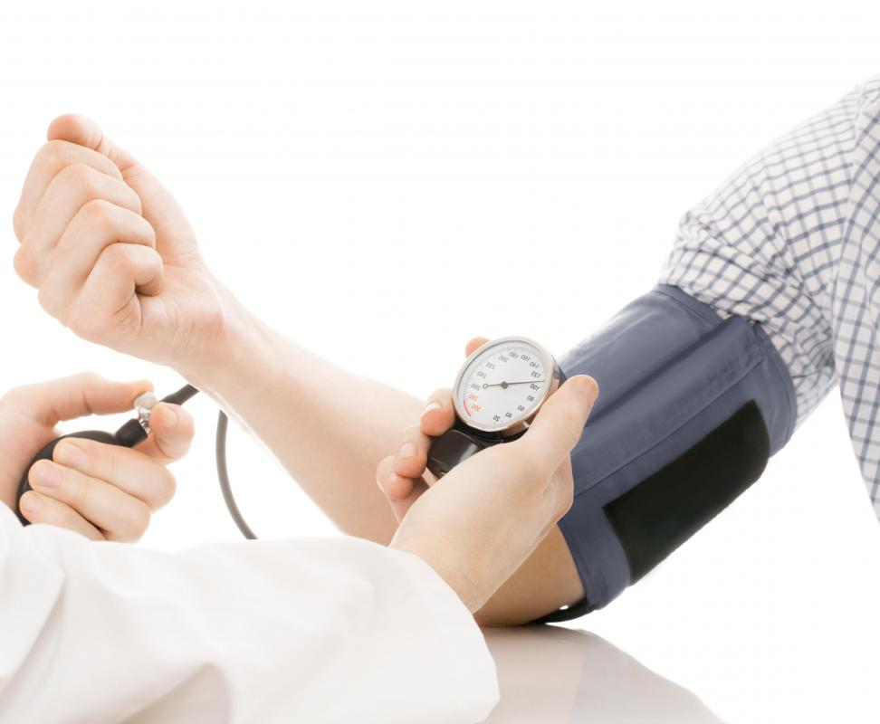 High blood pressure is a risk factor for arteriosclerosis.