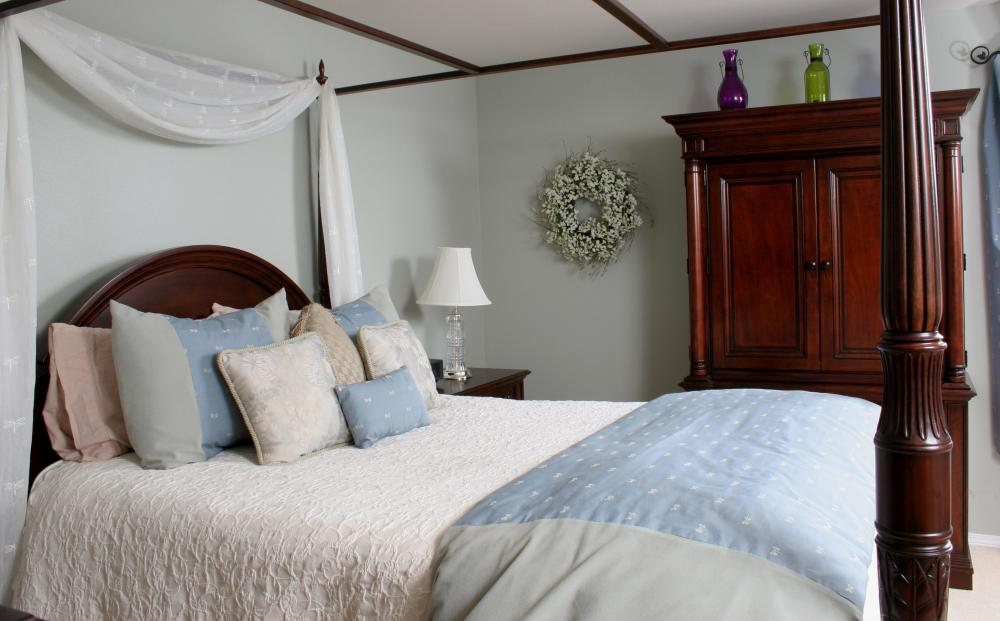 Queen size beds are the most common bed size.