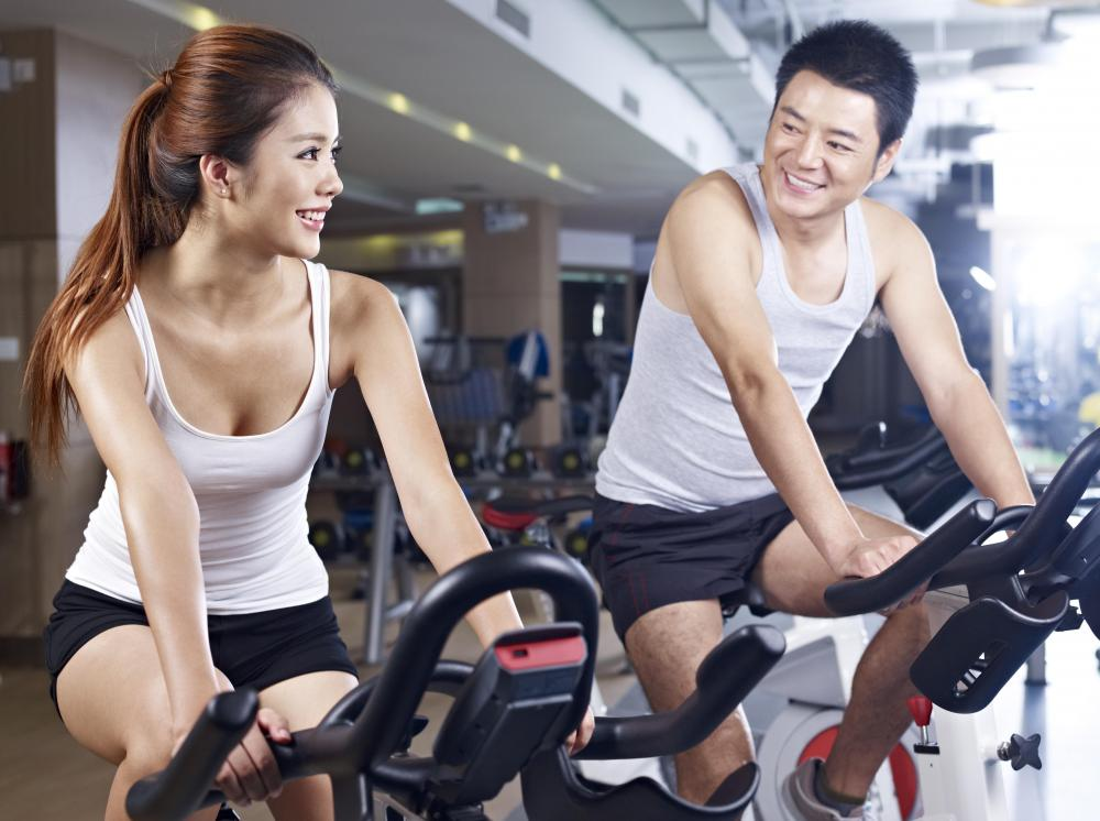 Utilizing exercise equipment might be part of a general fitness plan.