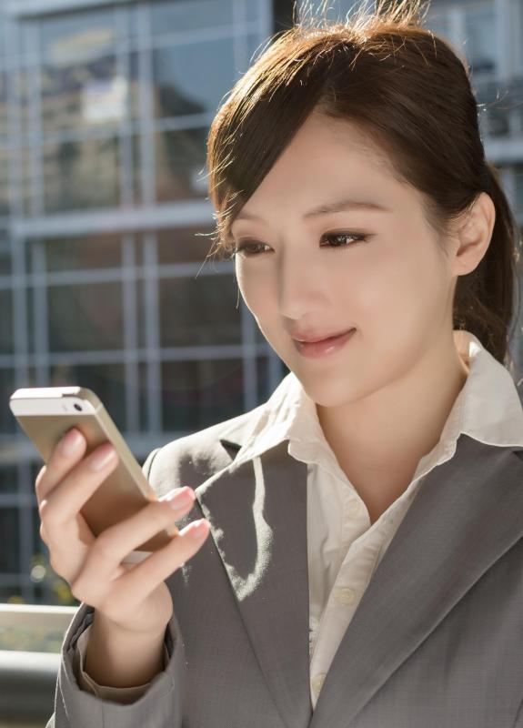 Smartphones are equipped with voice recognition software that can be used to speak commands and instructions.