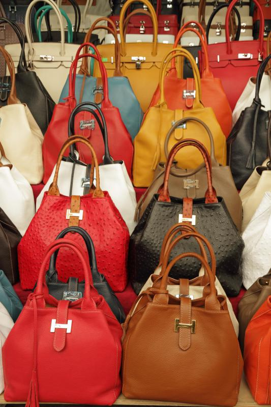 Italian leather may be used to make handbags.