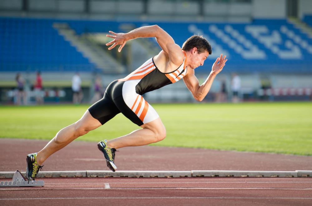 Sprinting is a common part of conditioning drills.