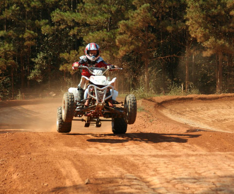 ATVs are often used for racing on dirt roads.