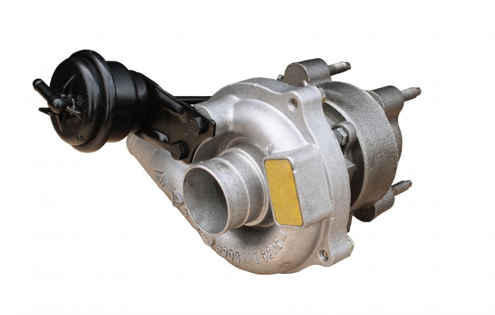 Turbochargers are small turbines that use compressed air to augment power in piston engines.