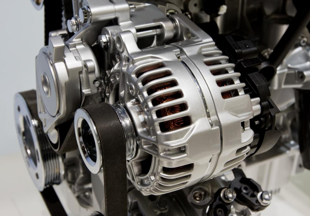 An automobile engine's alternator essentially serves as an electric generator.