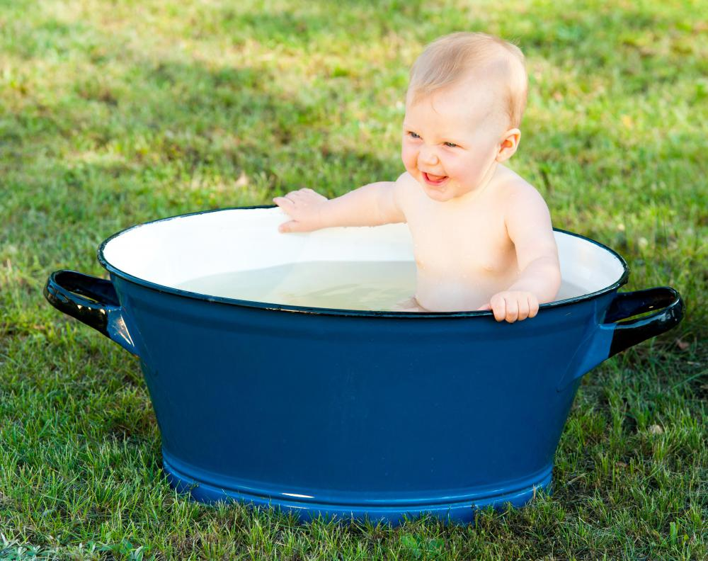 """Throwing the baby out with the bath water"" is an old expression dating back to the 1500's."