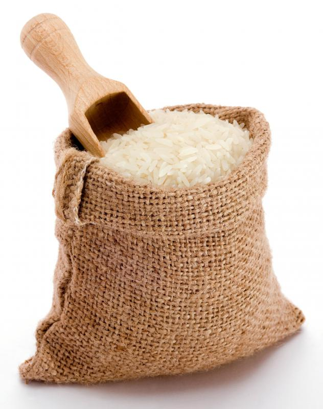 Uncooked rice.