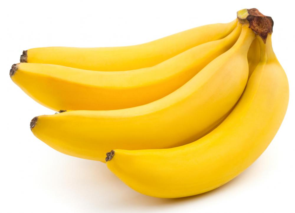 Bananas are a good source of potassium.