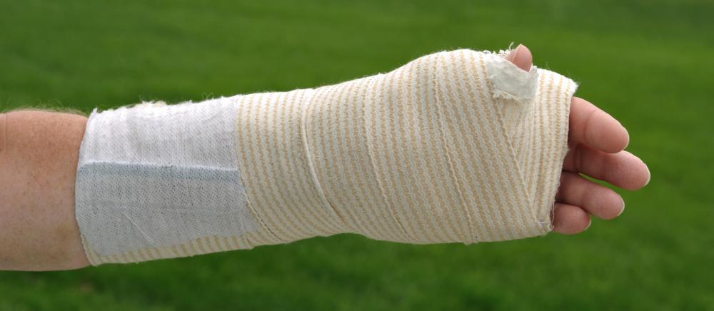 In some cases, putting a compression bandage on a wrist may be necessary to provide stability and protect the injury.
