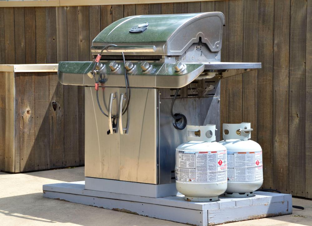 Propane is commonly used for outdoor grills.