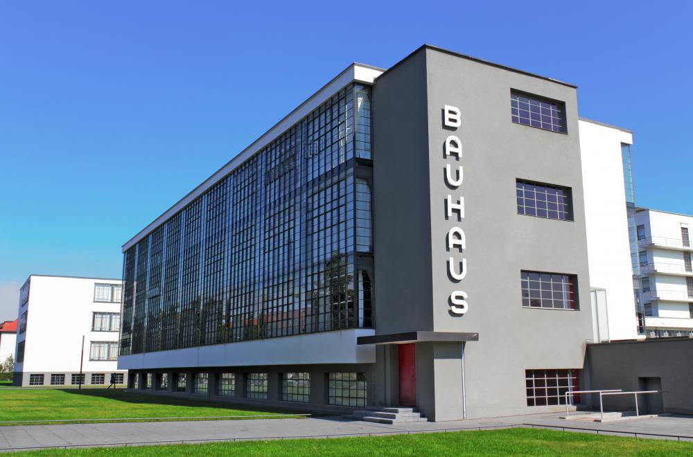 The Bauhaus School was a branch of modern architecture that spread from Germany to the US.