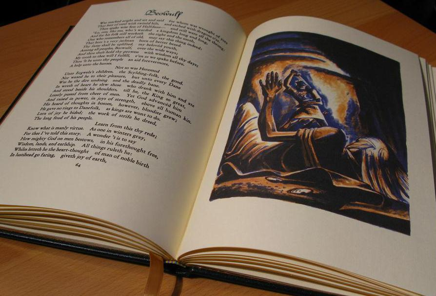 The epic poem Beowulf is one of the few surviving Anglo-Saxon texts.