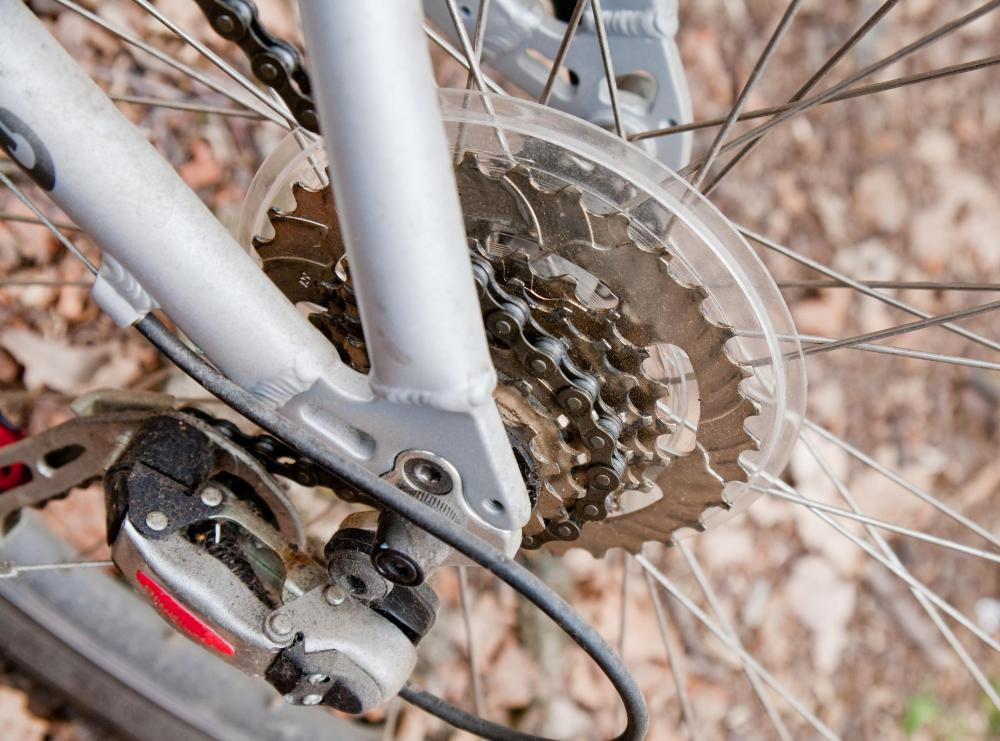Rotation of a bicycle sprocket moves the bicycle chain.