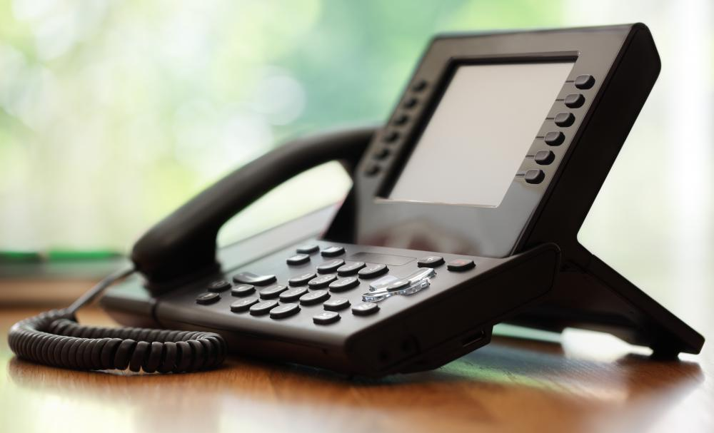 Teleconference phones are often used by businesses to conduct meetings.
