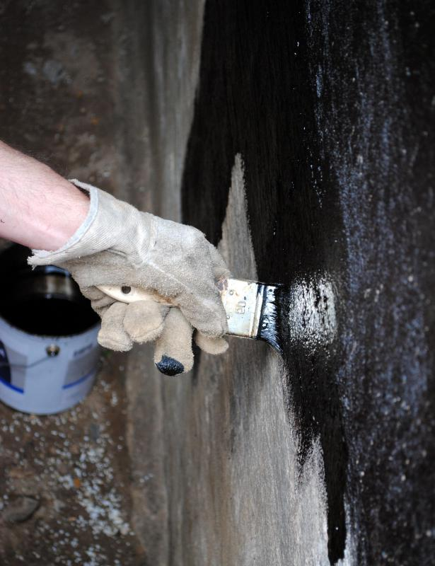 Waterproof paint can be used in basements to provide a seal.