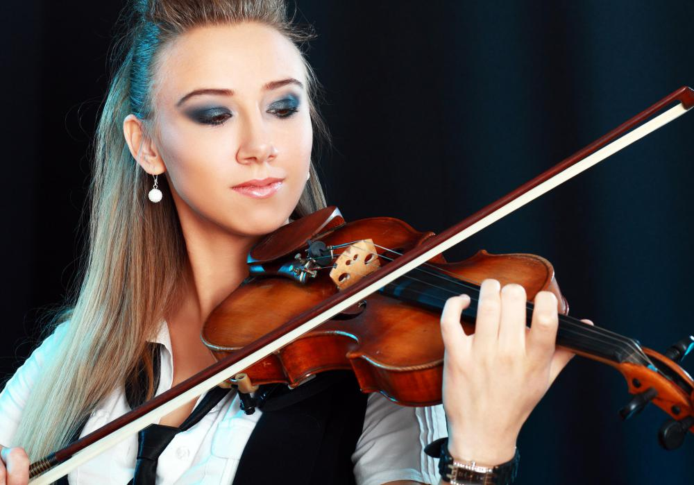 Left-handed violins allow users to use the bow with the left hand, unlike traditional violins, which are held between the performer's left hand and chin.
