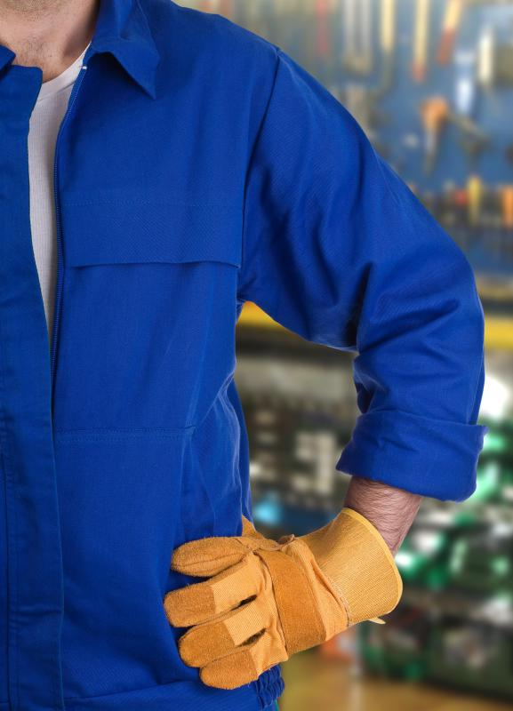 "Typical factory dress led to workers being labeled ""blue collar."""
