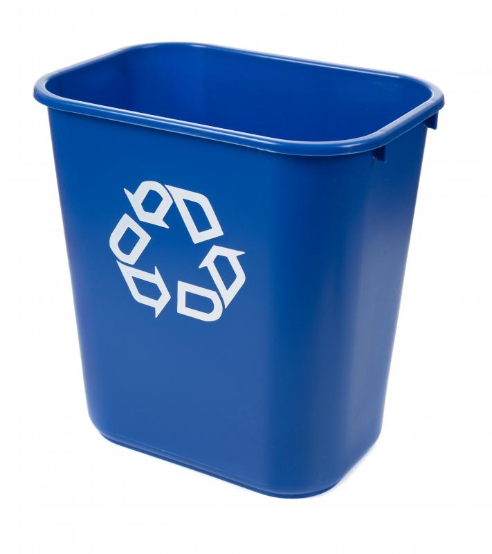 Recycling can be put in bins for later disposal.