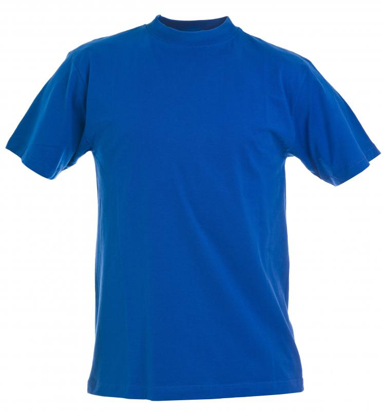T-shirts are commonly made of jersey fabric.