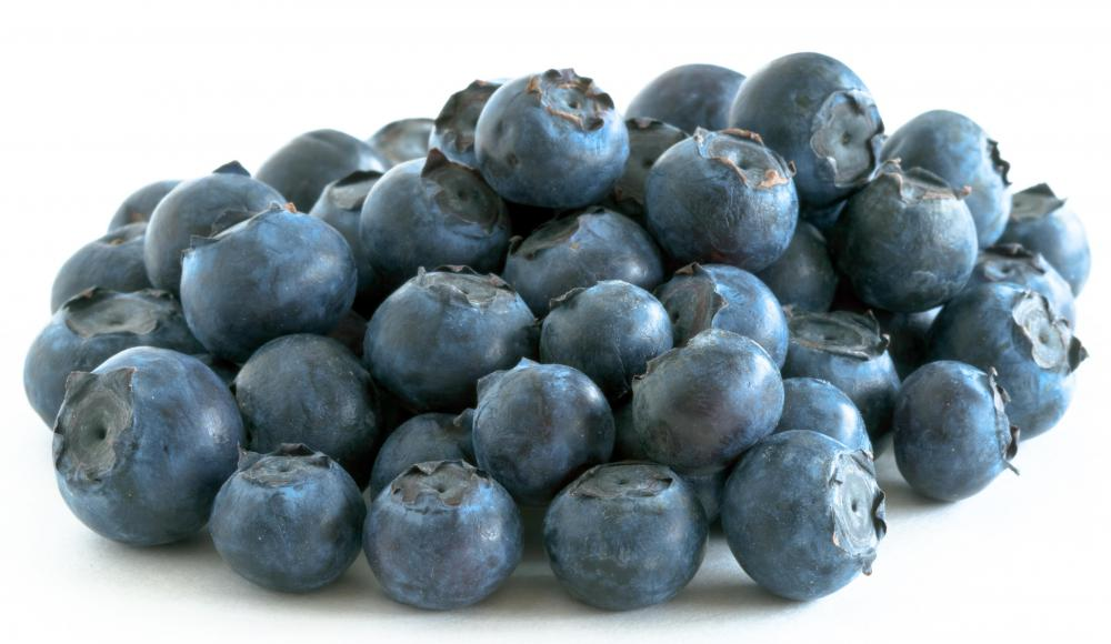 Blueberries are high in prolyphenol antioxidant.