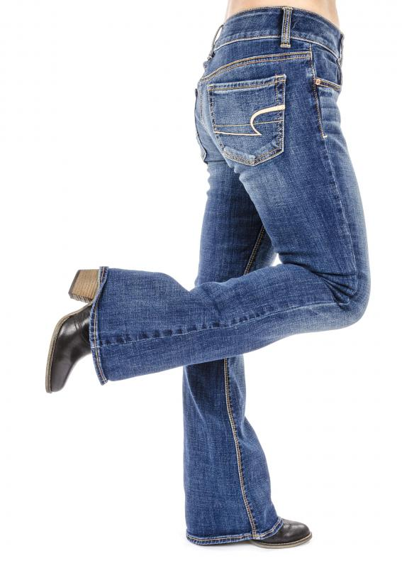 Styles of jeans with wider legs tend to flatter many body types.