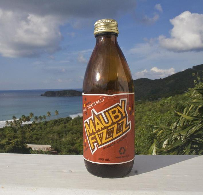 Mauby Fizz, a type of carbonated drink.