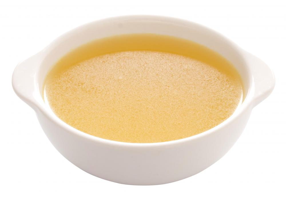 A clear liquid diet may be required after a colitis suffer has surgery or a bad attack, which can include chicken broth.