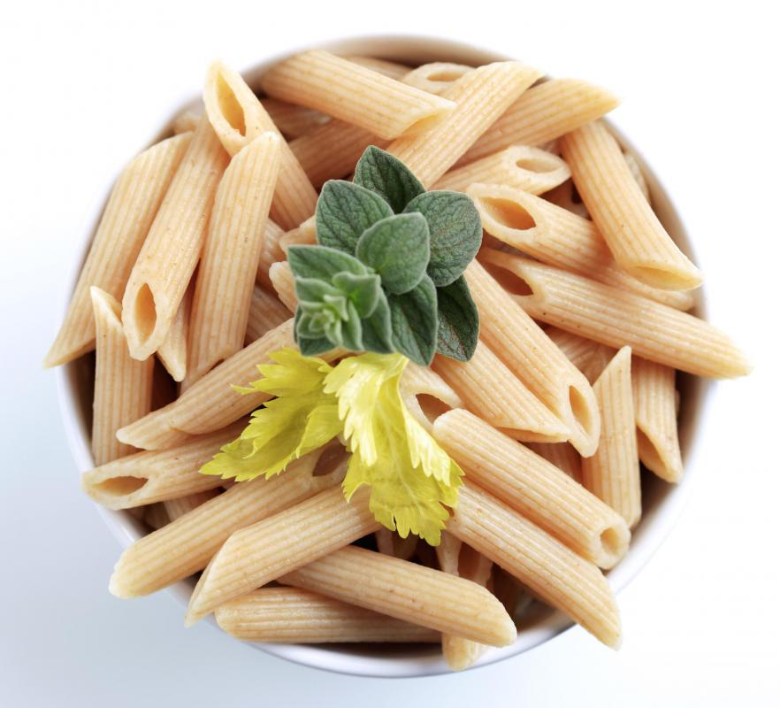 Whole-wheat pasta is a healthy high-carb food.