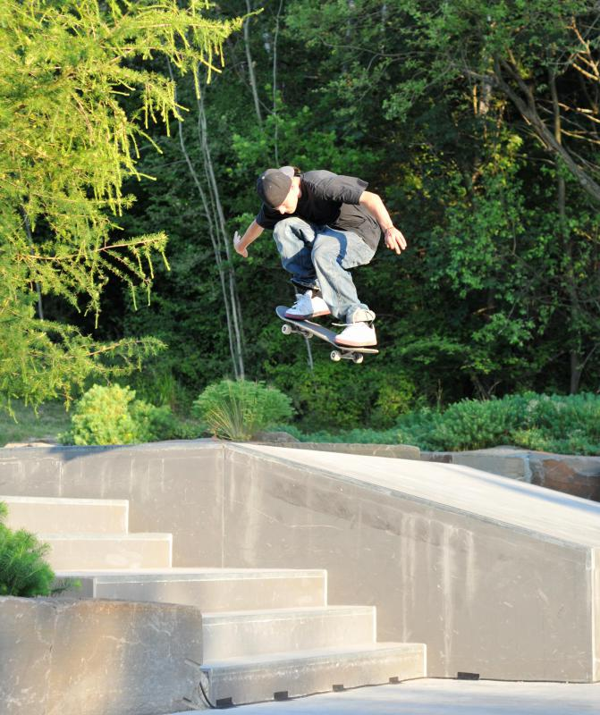 Engaging in a sport where falls are common, such as skateboarding, can lead to a hip pointer.