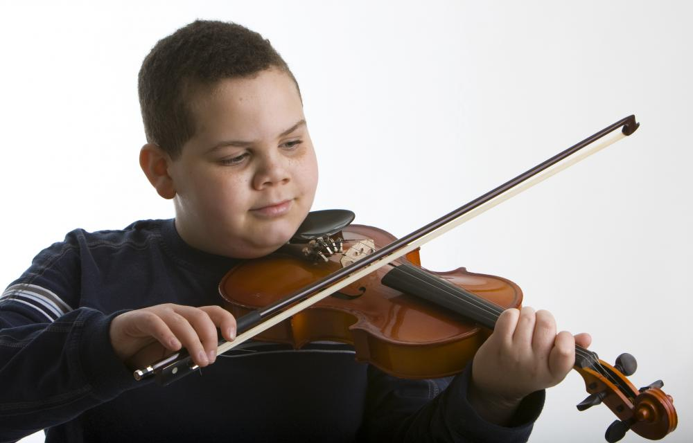 Gifted children are typically good at playing musical instruments.