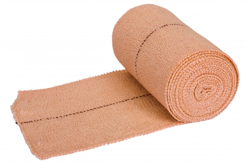 Applying a stretch bandage to wounds can help safeguard against infection.