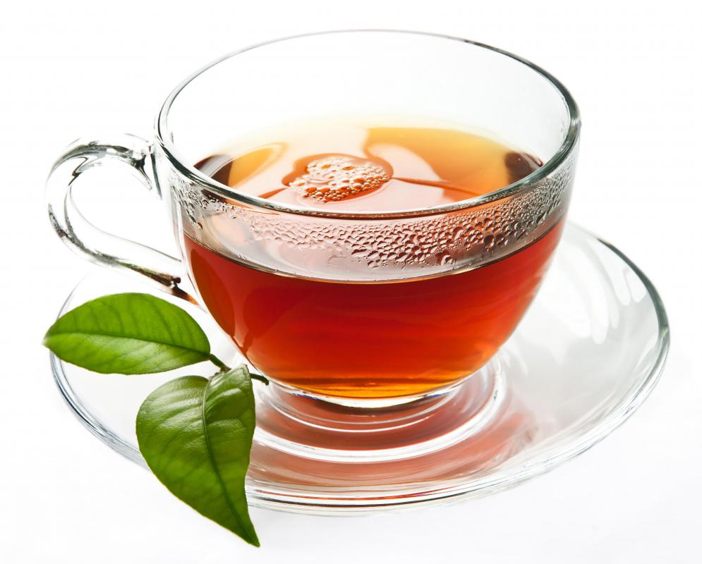 Some polyphenols make tea appear reddish or brown.