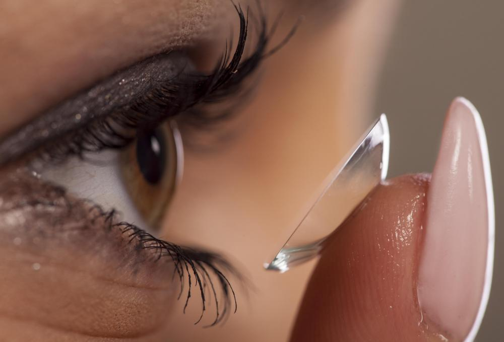Contact lenses can be made to correct vision problems such as myopia, or shortsightedness.