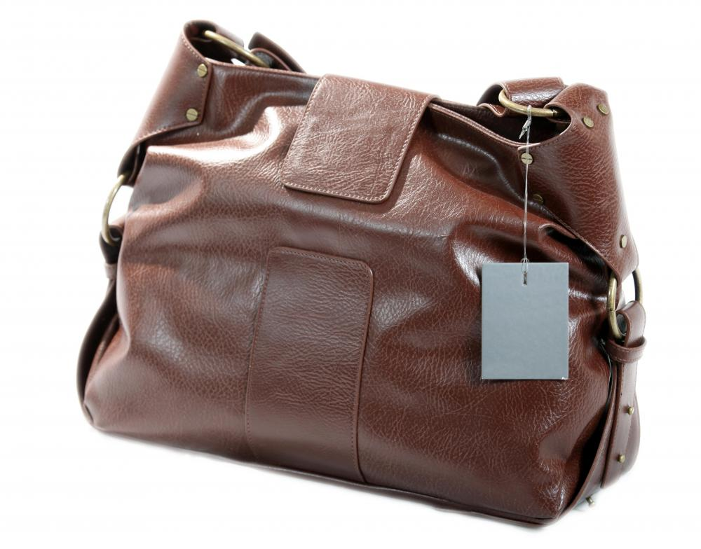 A bag made out of vegan leather.