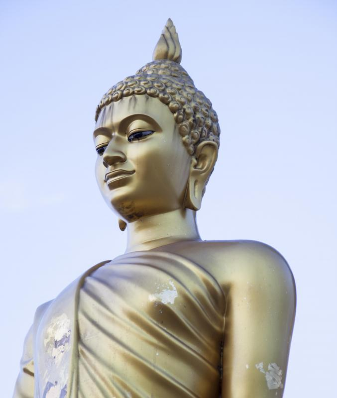 In Mahayana Buddhism, Buddha is seen as the manifestation of a divine being.