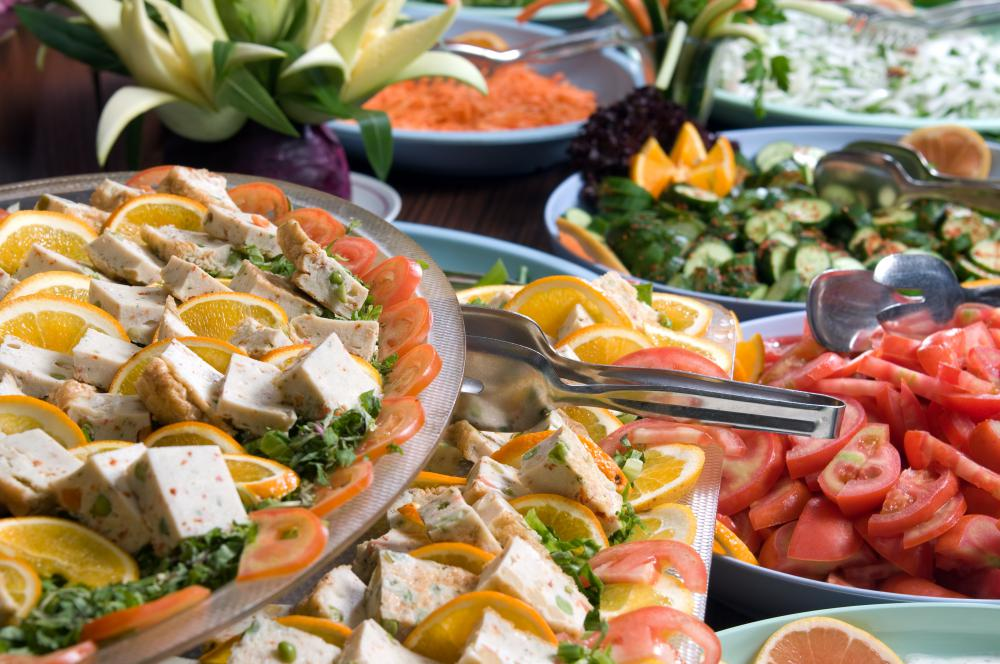 A generous buffet helps make an open house successful.