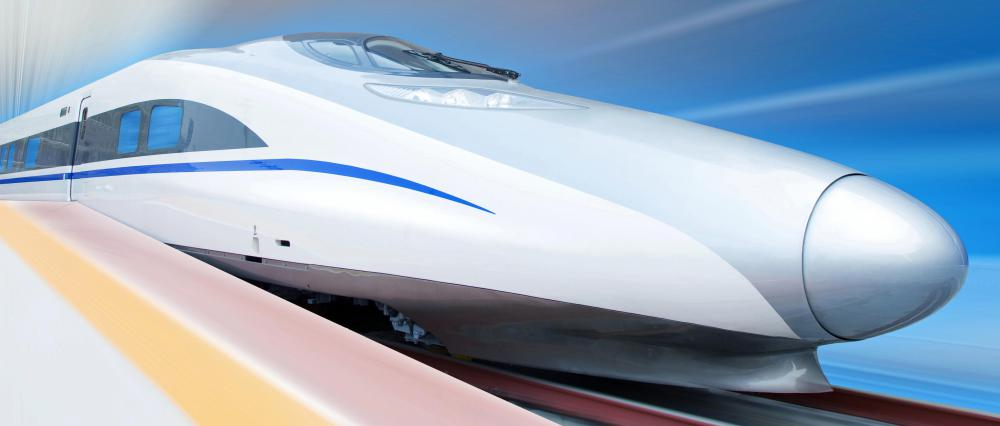 Maglev trains use magnets that increase speed by minimizing friction with rail tracks.